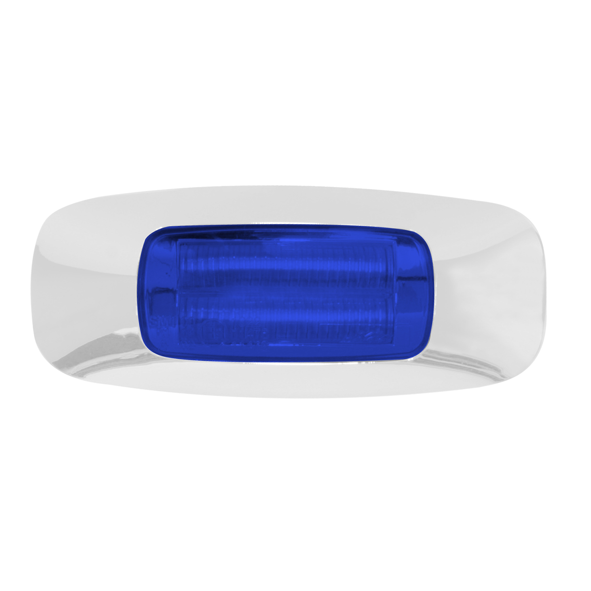 "74825 3.5"" Rectangular Prime LED Marker Light in Blue/Blue"