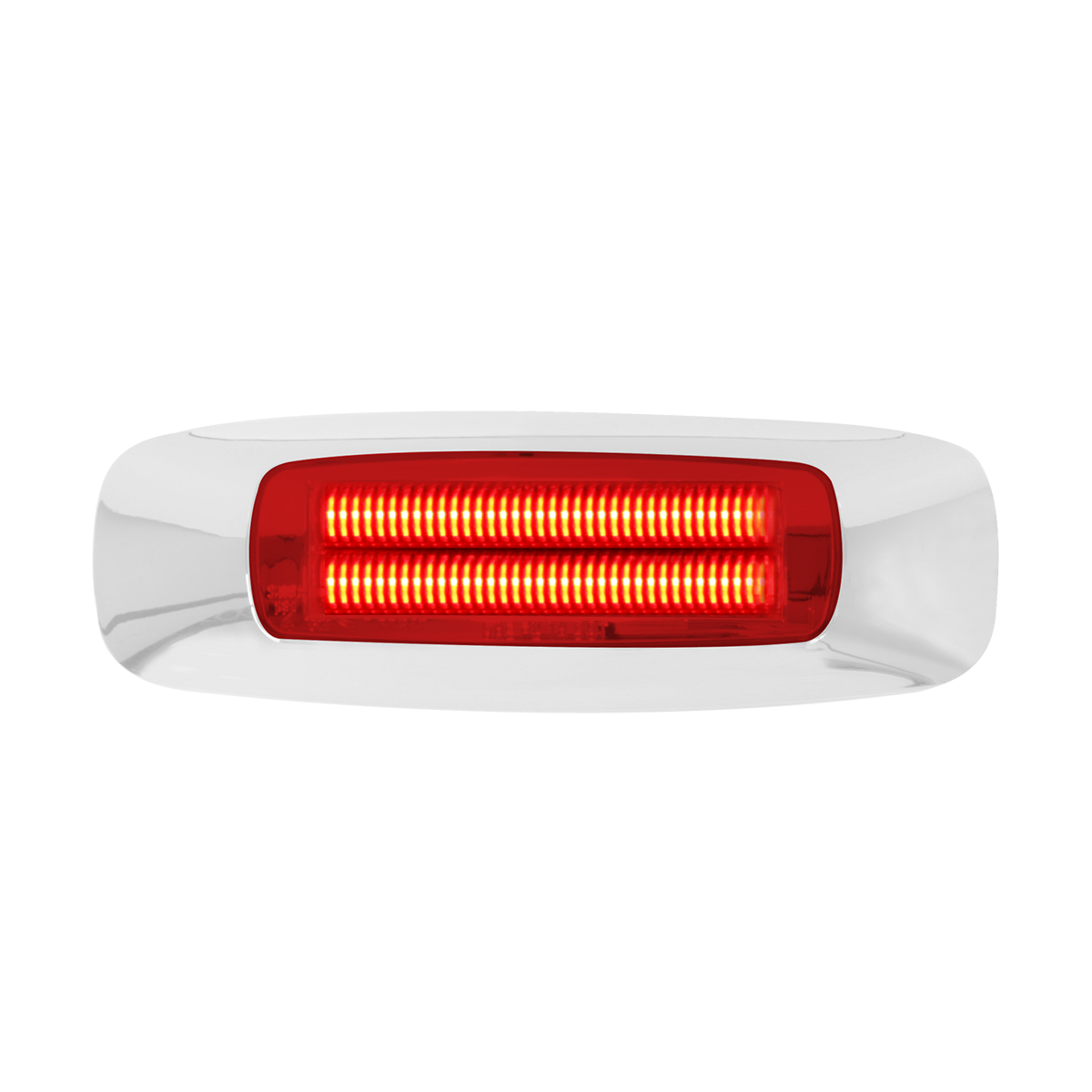 "74832 4-5/8"" Rectangular Prime LED Marker Light in Red/Red"