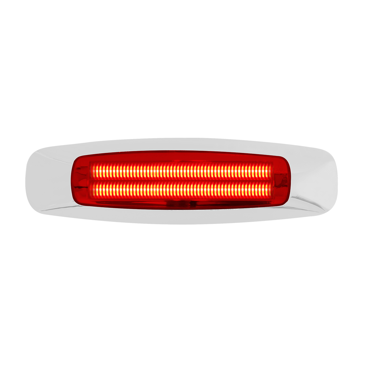 "74843 5-3/4"" Rectangular Prime LED Marker Light in Red/Red"