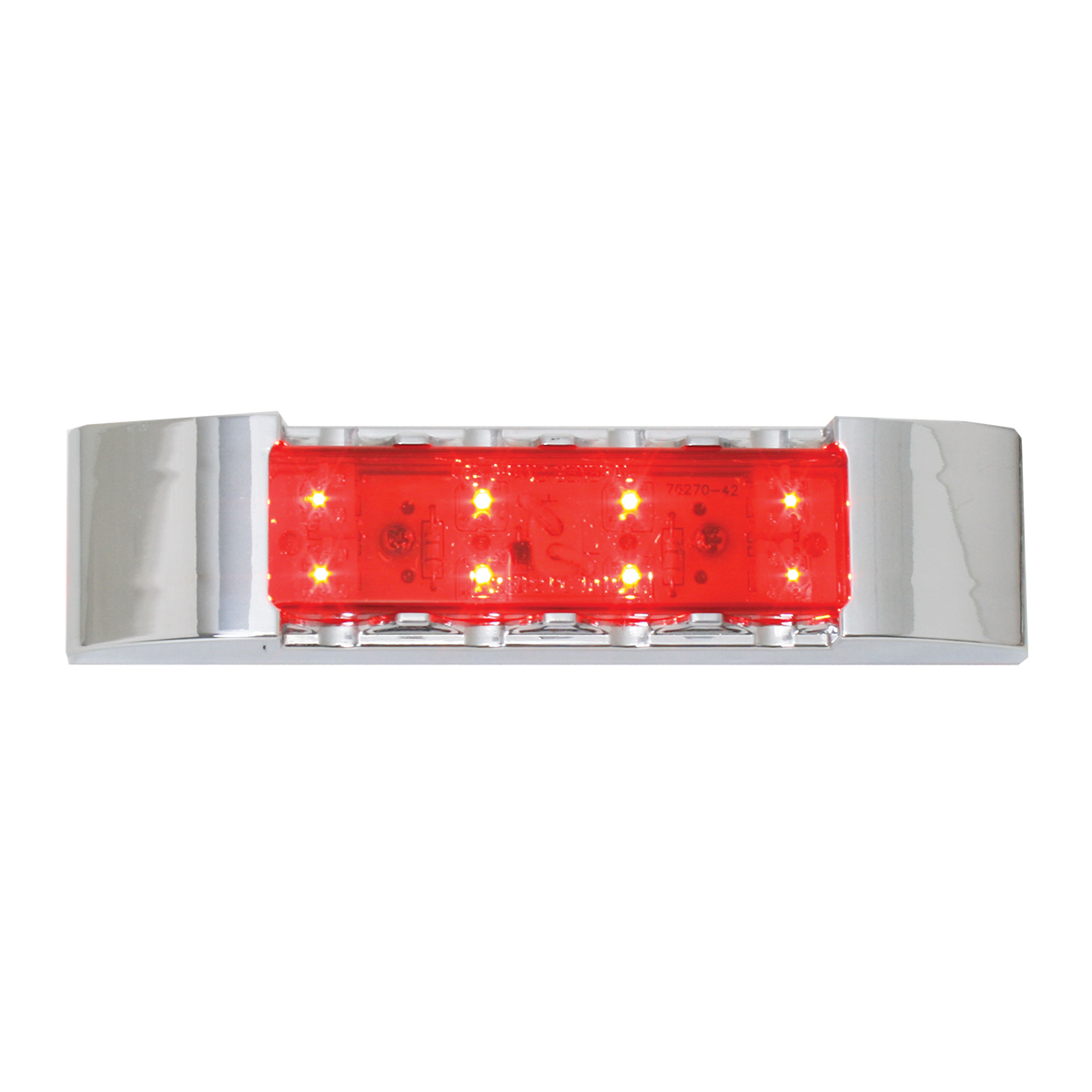 76182 Rectangular Wide Angle LED Light w/ Chrome Plastic Bezel
