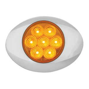 Small Low Profile Surface Mount Spyder LED Marker Light w/ Chrome Bezel