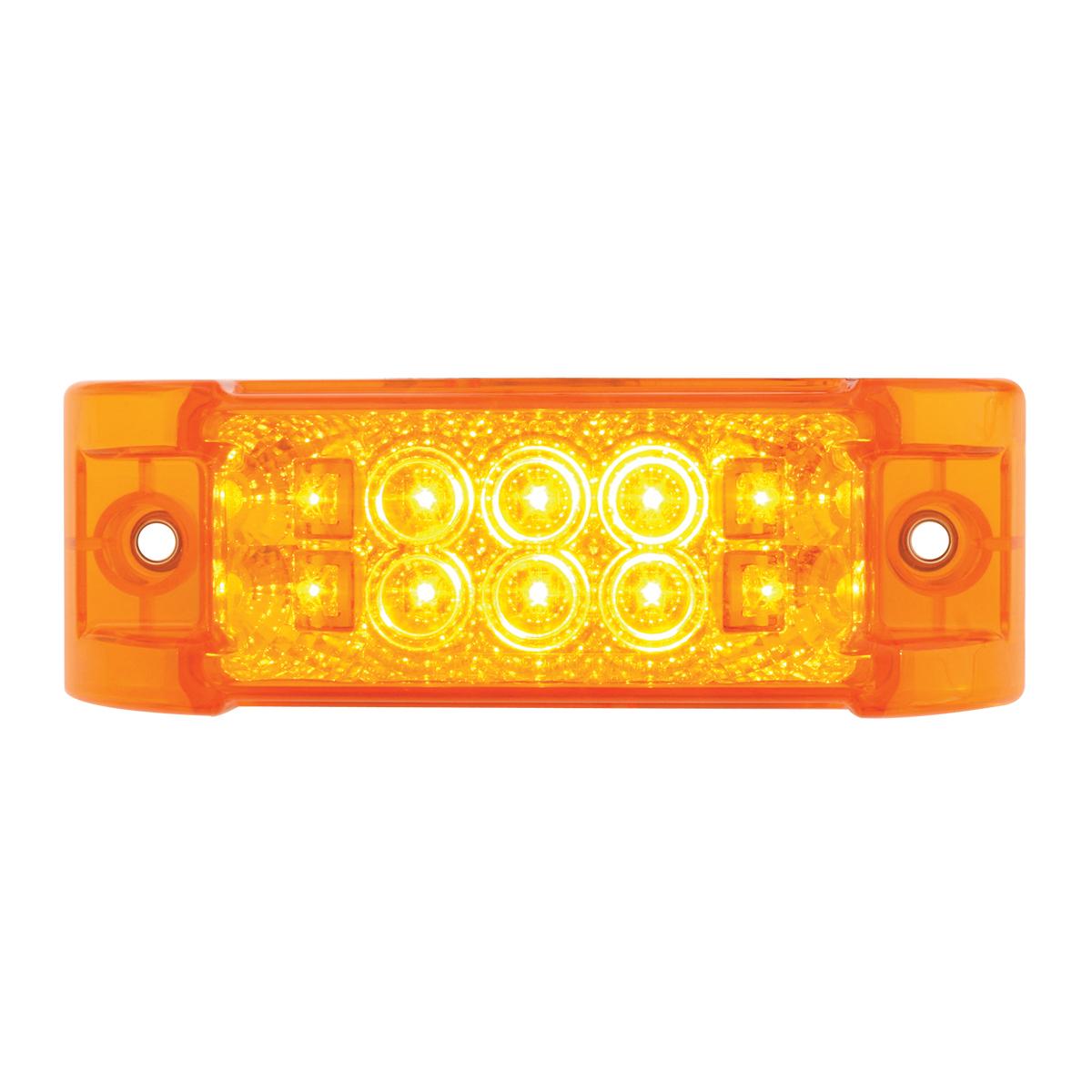 76210 Rectangular Wide Angle Spyder LED Marker Light in Amber/Amber