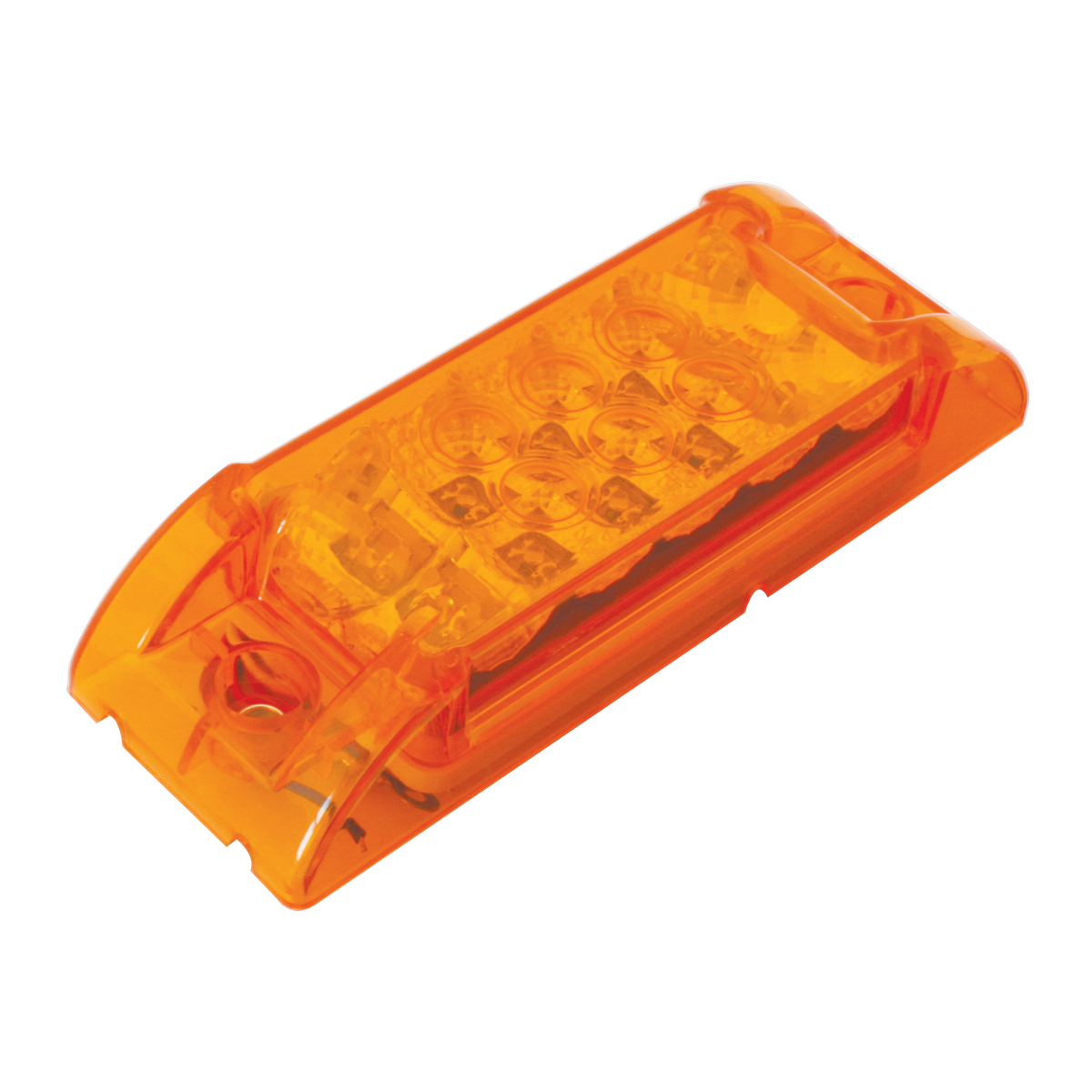 76210 Rectangular Wide Angle Spyder LED Marker Light in Amber/Amber