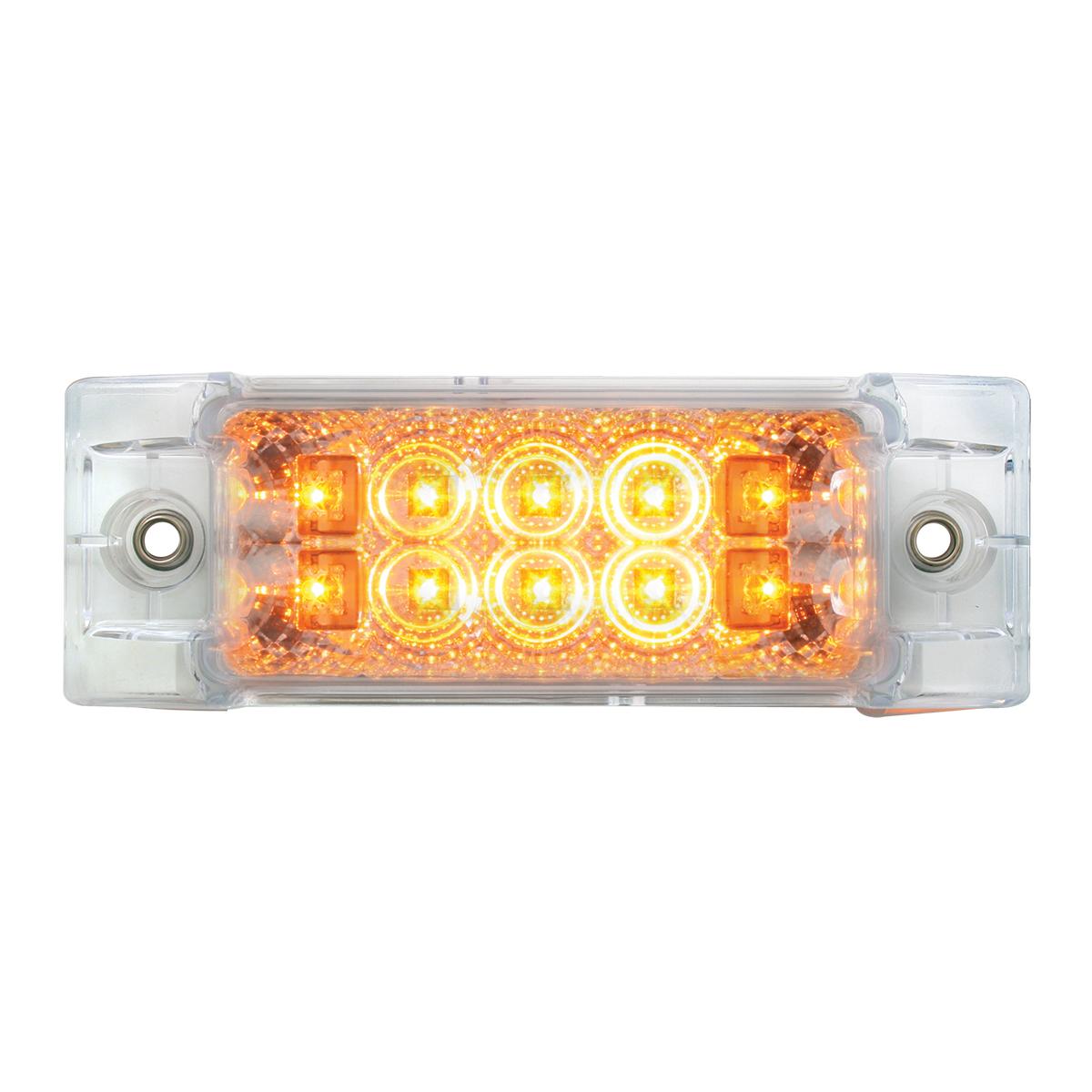 76211 Rectangular Wide Angle Spyder LED Marker Light in Amber/Clear