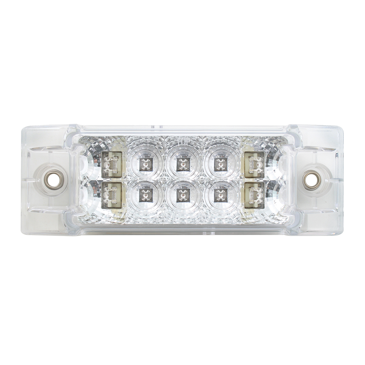 Rectangular Wide Angle Spyder LED Marker Light in Clear Lens