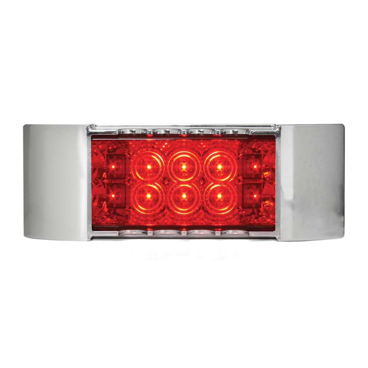 76216 Rectangular Wide Angle Spyder LED Marker Light w/ Chrome Plastic Bezel