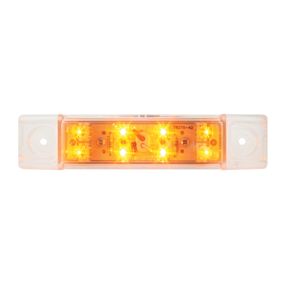 76261 Rectangular Wide Angle LED Light in Amber/Clear
