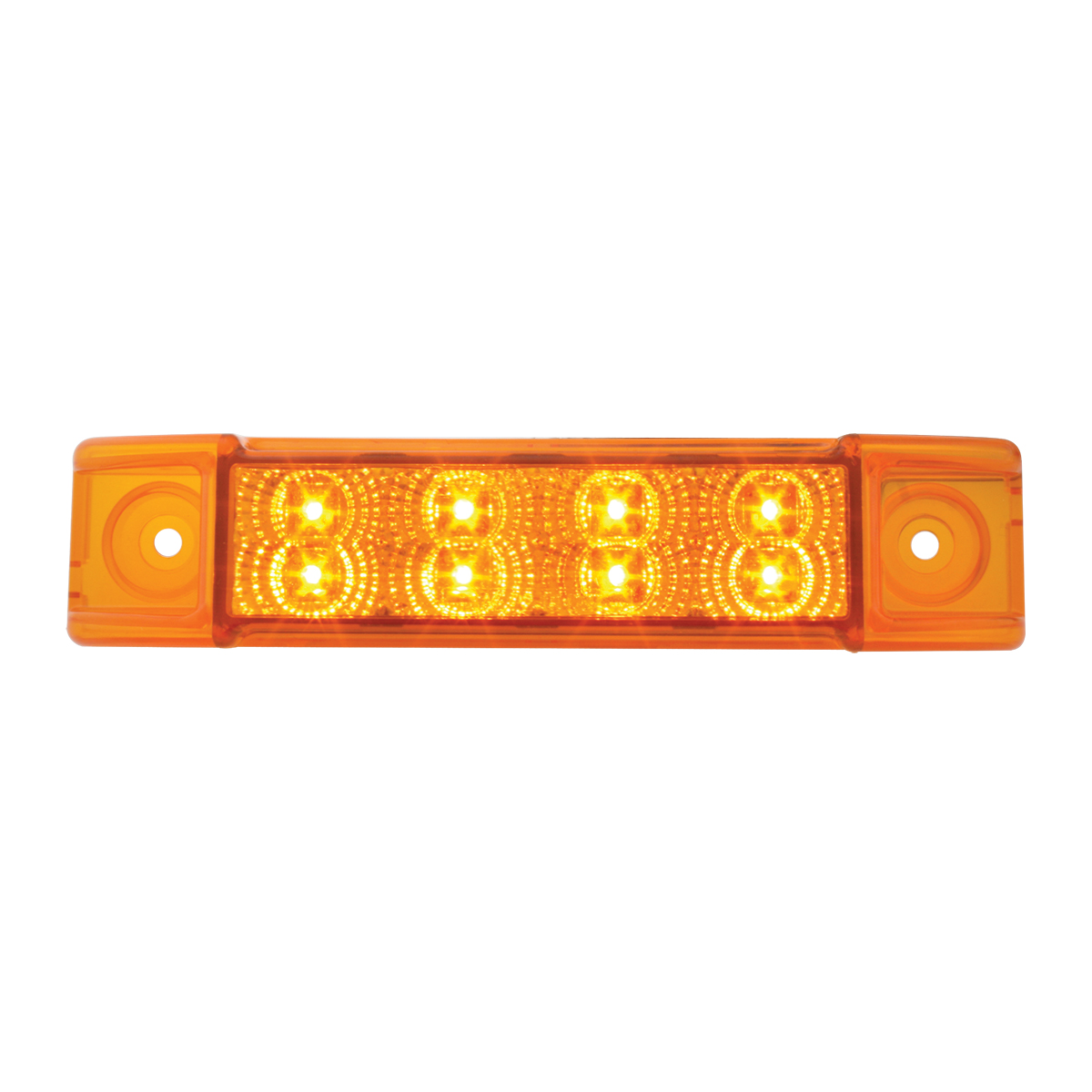 Grand General 76272 Red Rectangular 8 LED Marker//Clearance Light with Red Lens