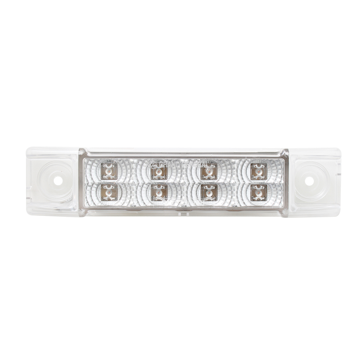 Slim Rectangular Spyder LED Light in Clear Lens
