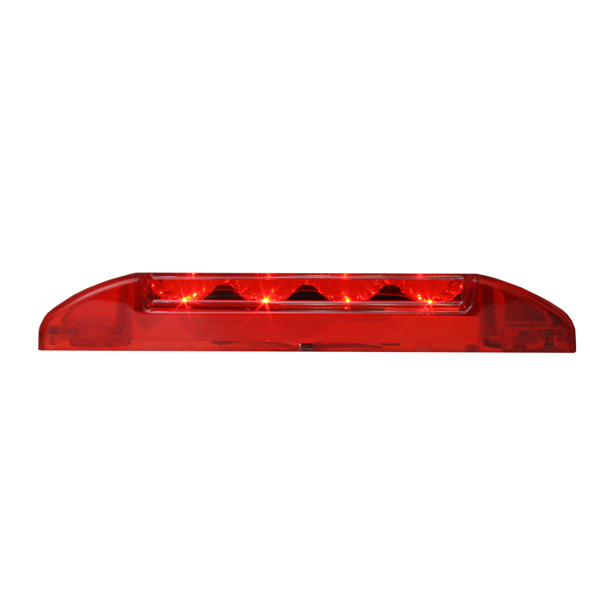 76272 Slim Rectangular Spyder LED Light in Red/Red