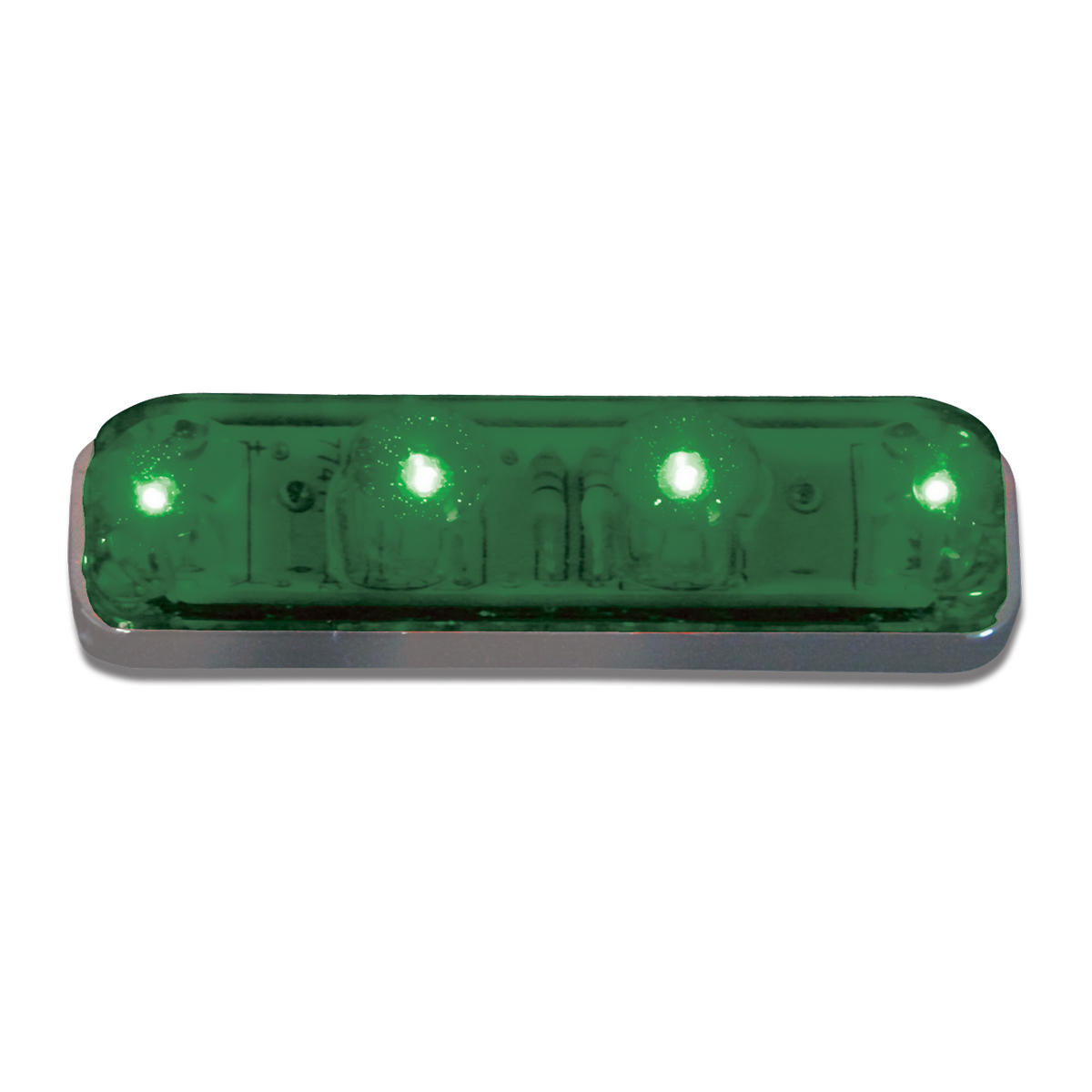 77142 Small Thin Lin Surface Mount LED Light in Green/Green