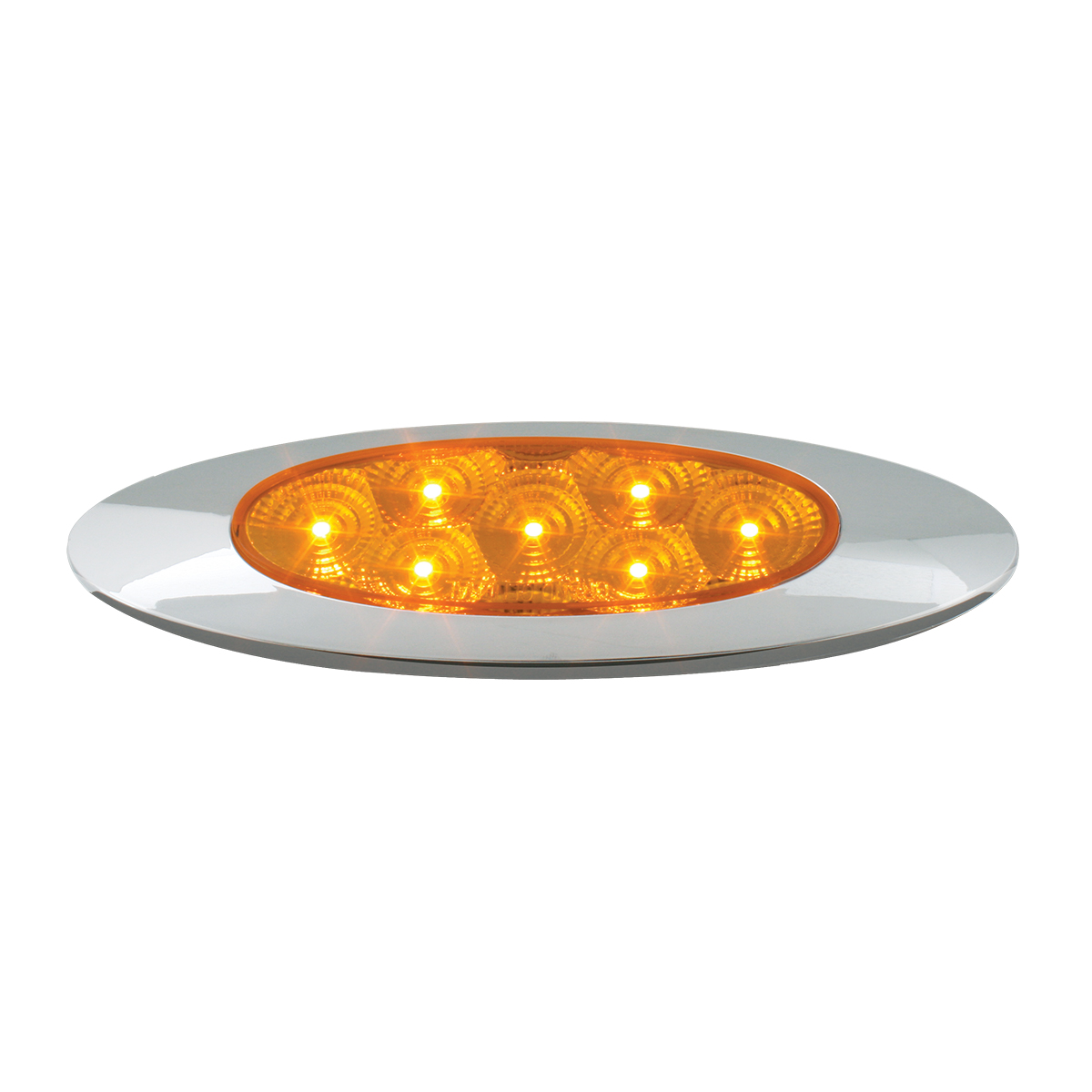 Ultra Thin Y2K Spyder LED Light in Amber/Amber
