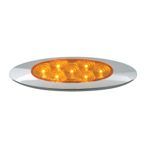 Ultra Thin Surface Mount Y2K LED Light with Chrome Bezel