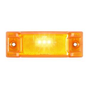 Rectangular LED Marker Light with Reflector Lens