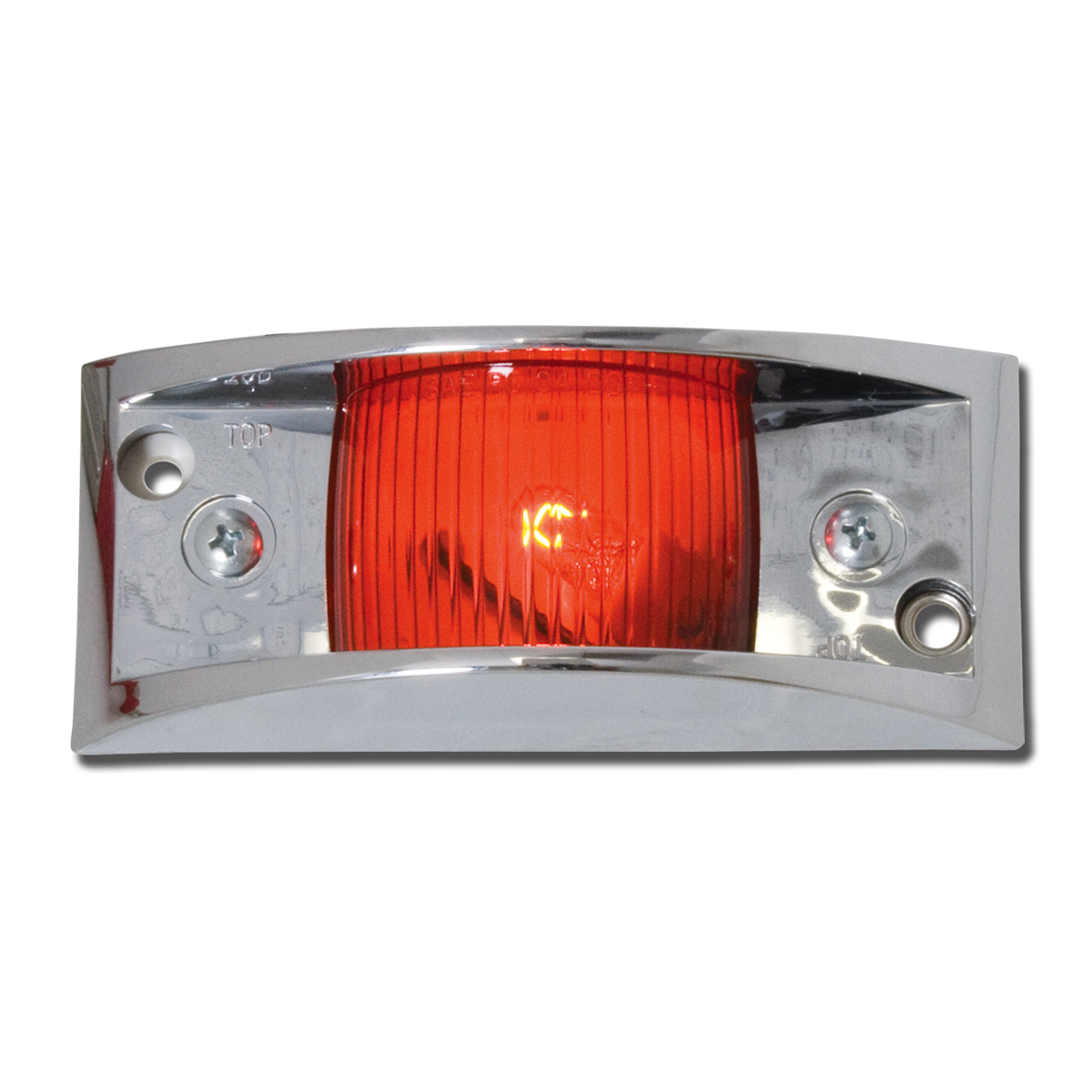 #80151 Red Marker Light with Chrome Guard