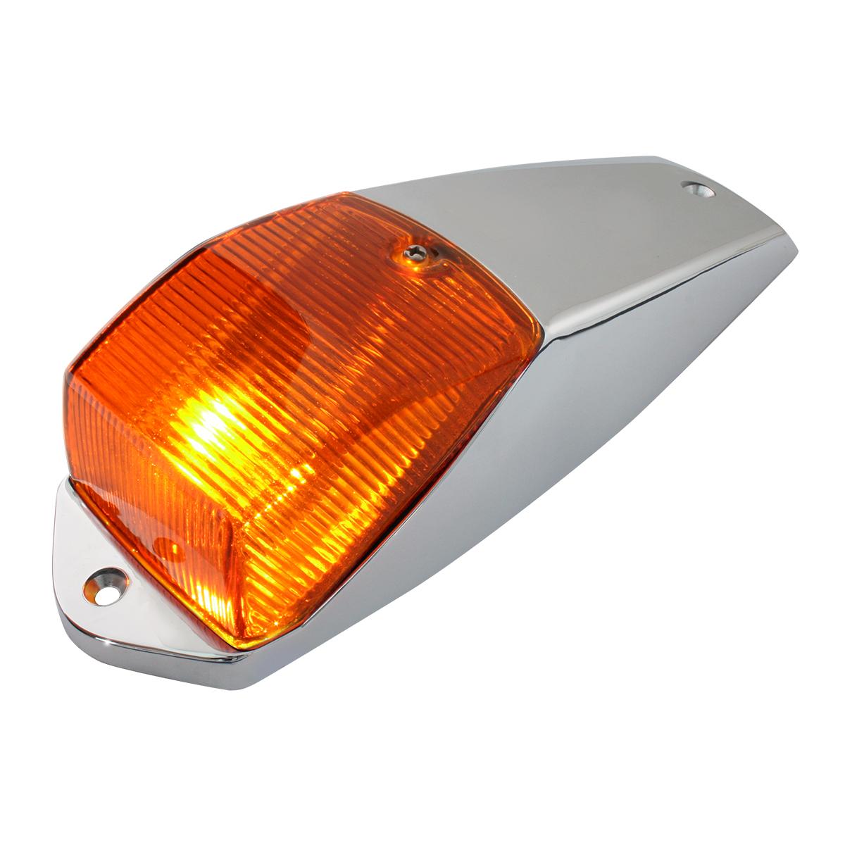 #81314 Dark Amber G5K Cab Marker Light - Chrome Plastic Housing