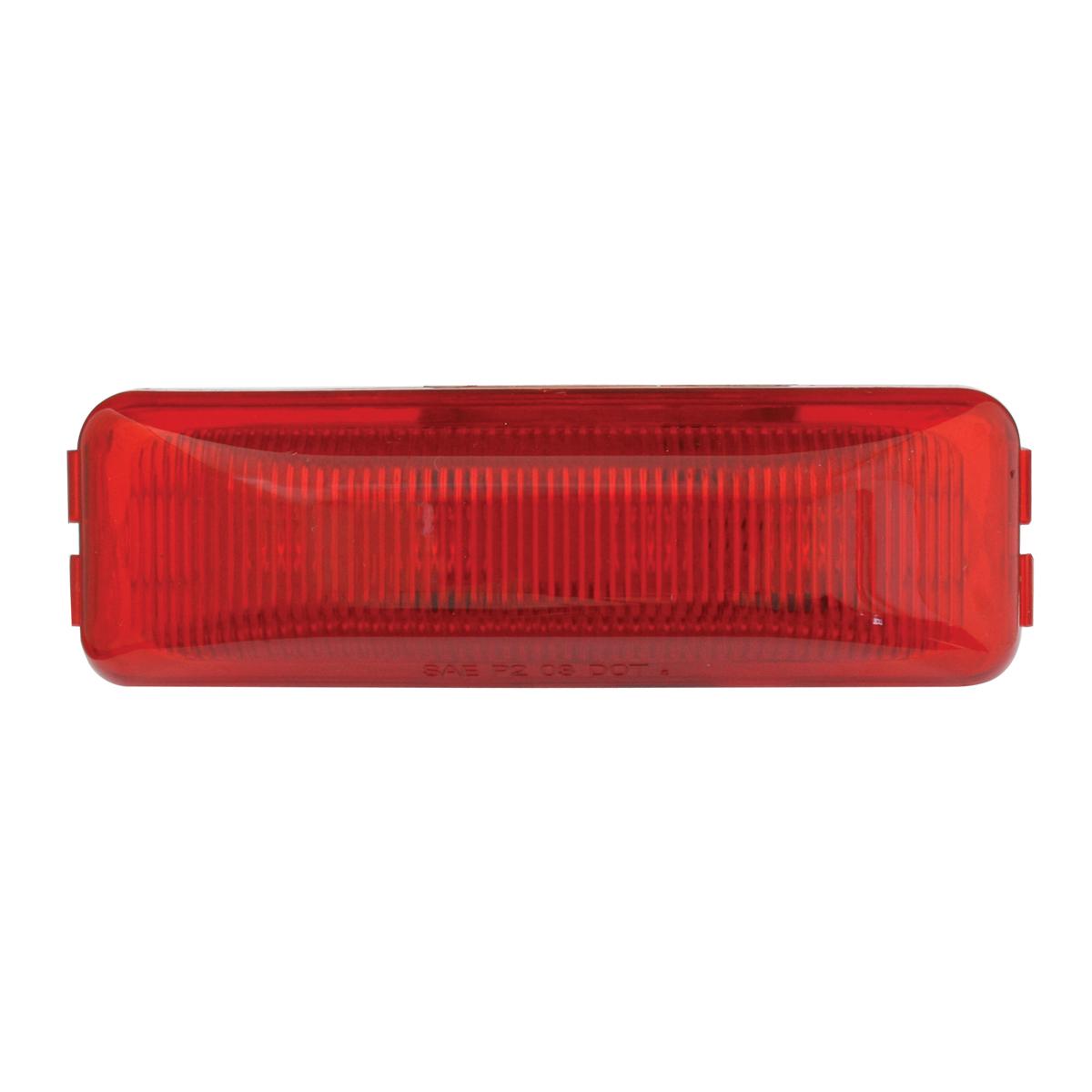 84445 Medium Rectangular LED Marker Light in Red/Red