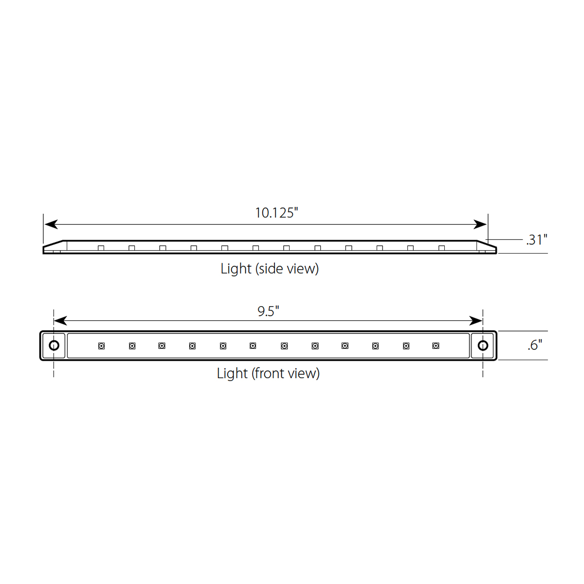 "10-1/8"" Ultra Thin LED Marker Light Bar"