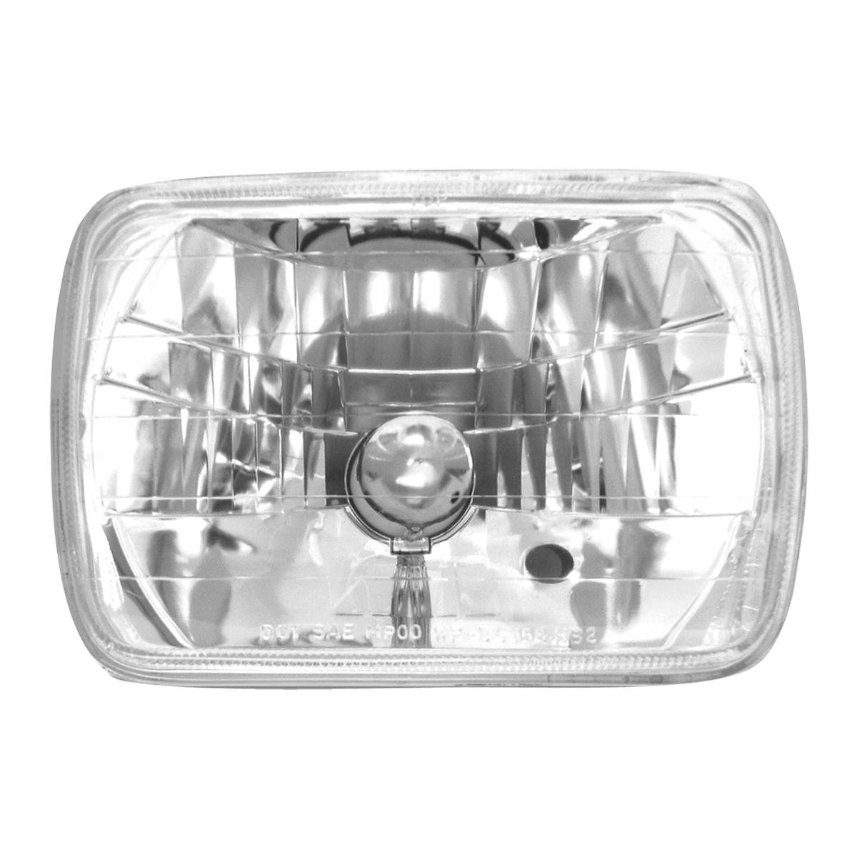 "#77390 (7.875"" x 5.6"") Rectangular Headlamp with #H4 Halogen Bulb"