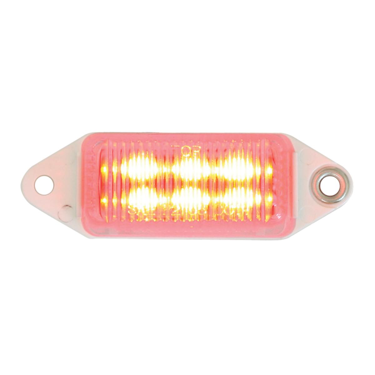 78373 Mini Rectangular LED Marker Light in Red/Clear