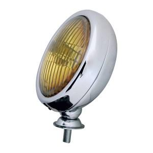 """#80421 Chrome Plated 5"""" Sealed Beam Light - Amber"""