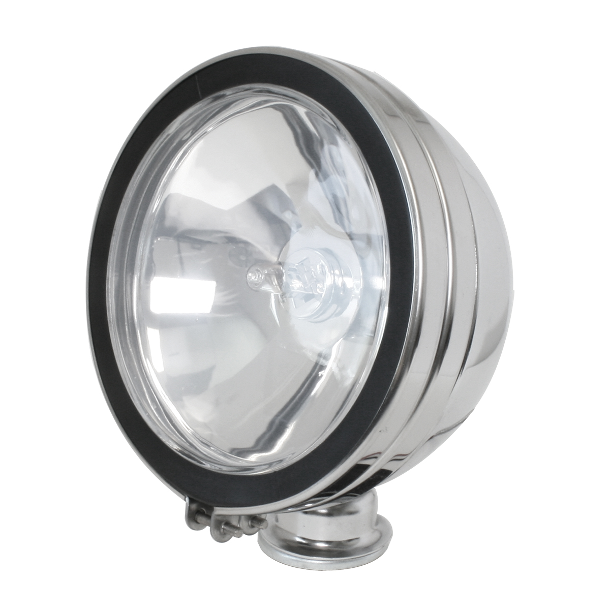 """#80625 6"""" Chrome Plated Off-Road Light 100 Watts - Clear"""