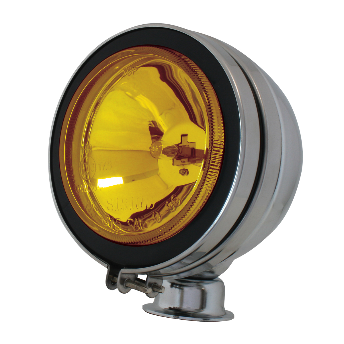 "#80631 5"" Chrome Plated Off-Road Light 55 watts - Amber"