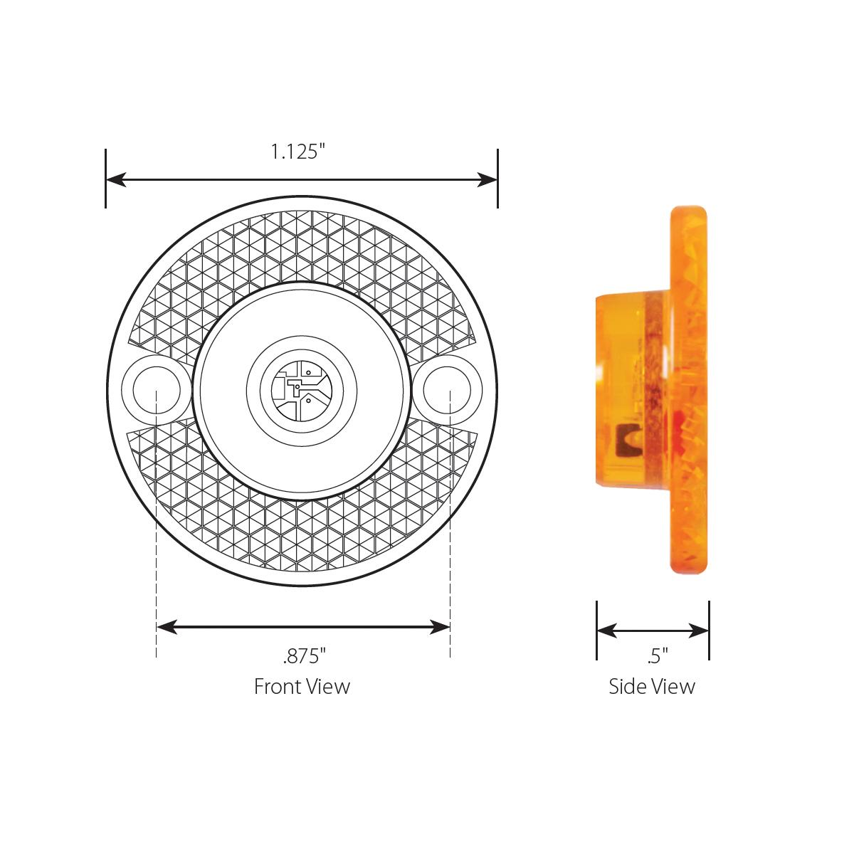 """1-1/8"""" Mini Surface Mount LED Marker Light"""
