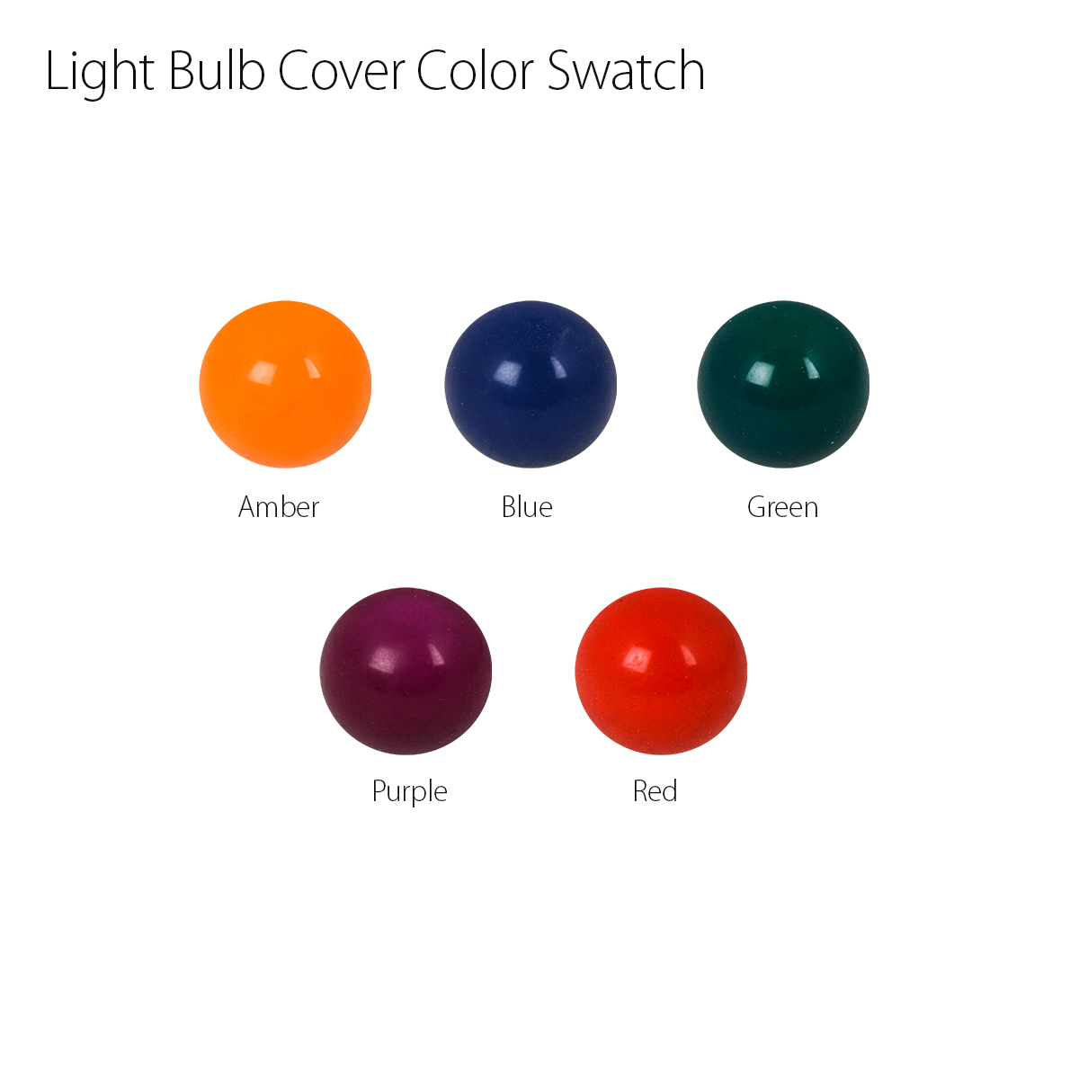 Small Bulb Cover Color Swatch