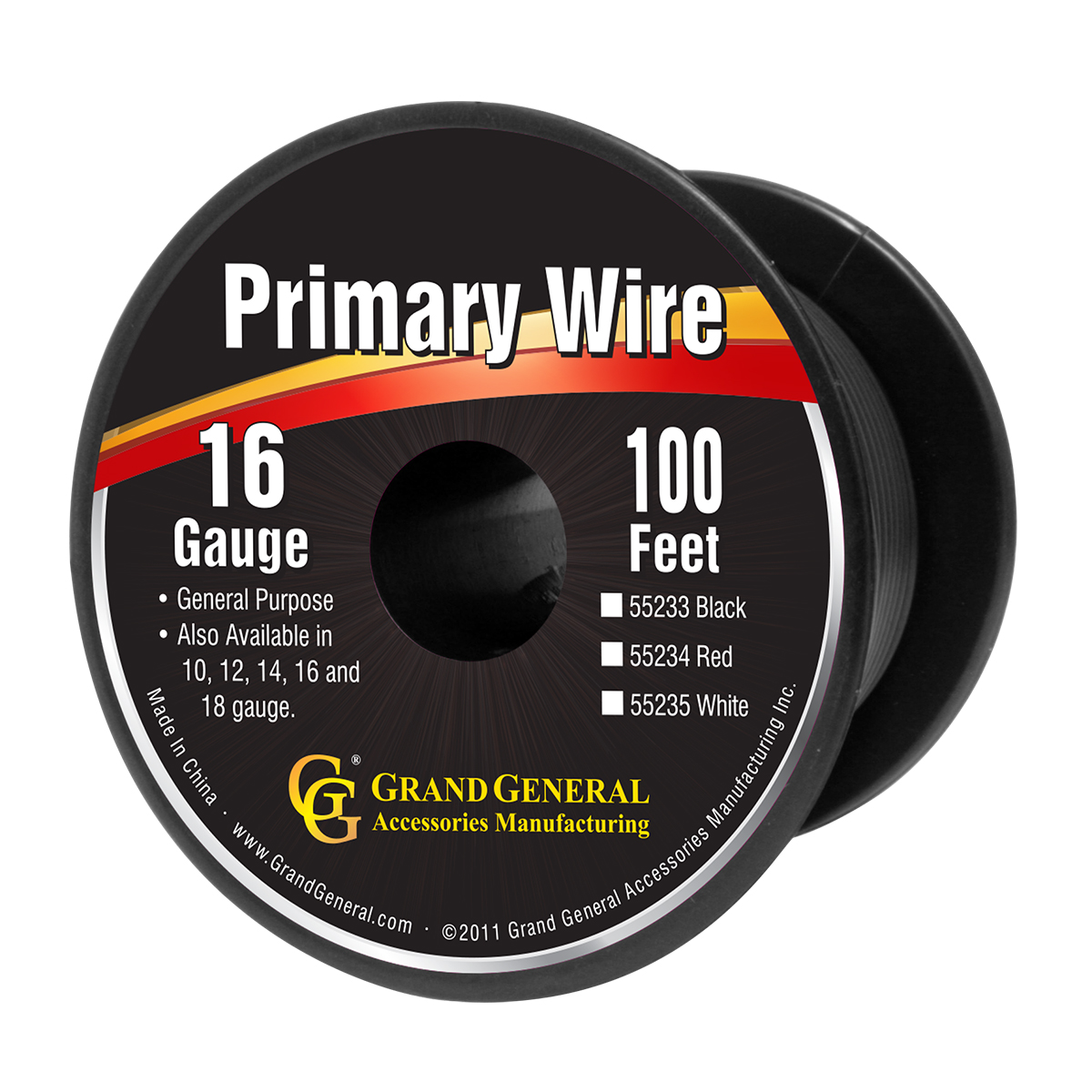 55233 Primary Wire in 16 Gauge, 100 Feet