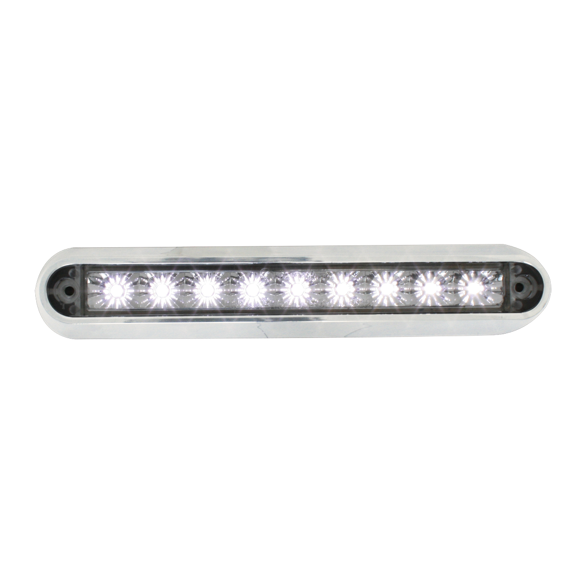 "76094 6.5"" Surface Mount LED Light Bar w/ Chrome Plastic Base"