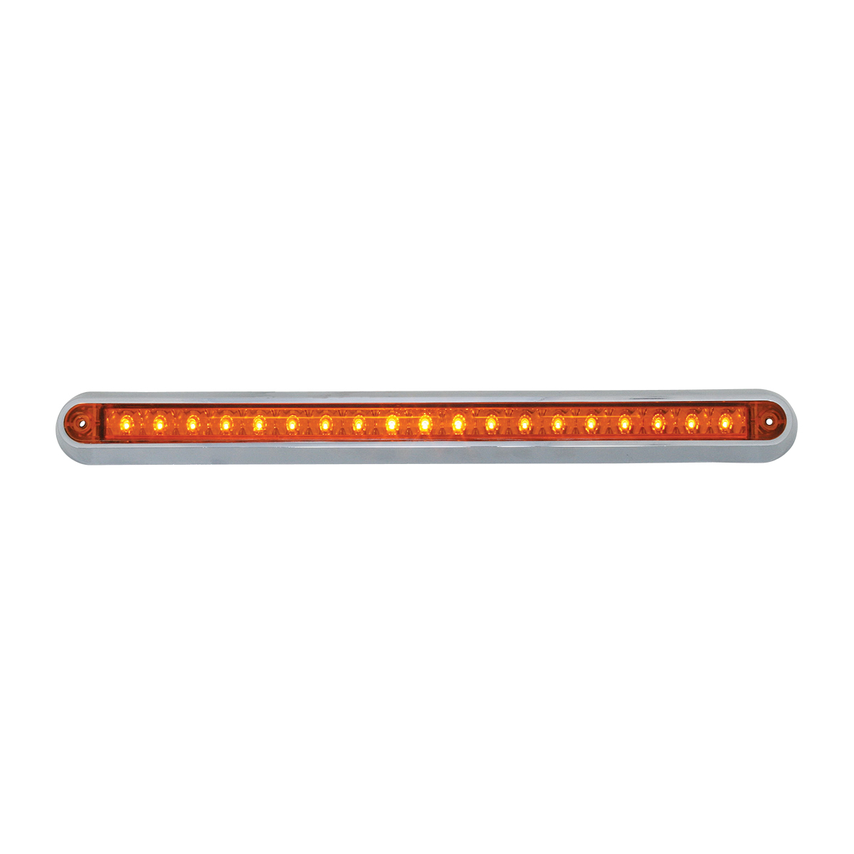 "76290 12"" Surface Mount Light Bar with Chrome Plastic Base"