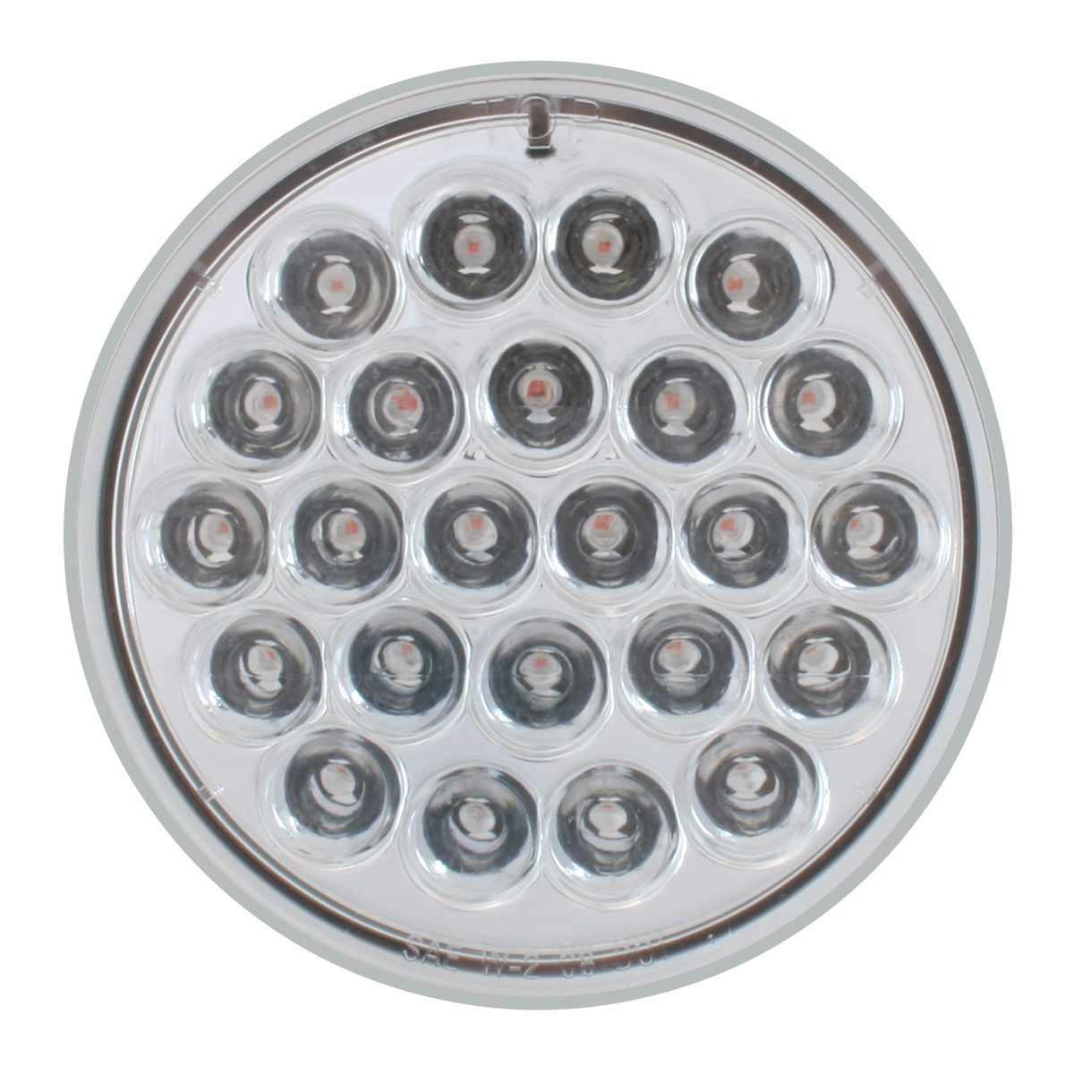 "4"" Round Continuous Pearl LED Strobe Light in Clear Lens"