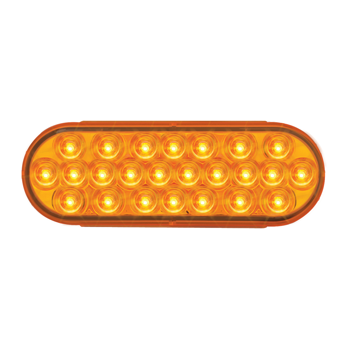 76525 Oval Pearl LED Strobe Light in Amber/Amber