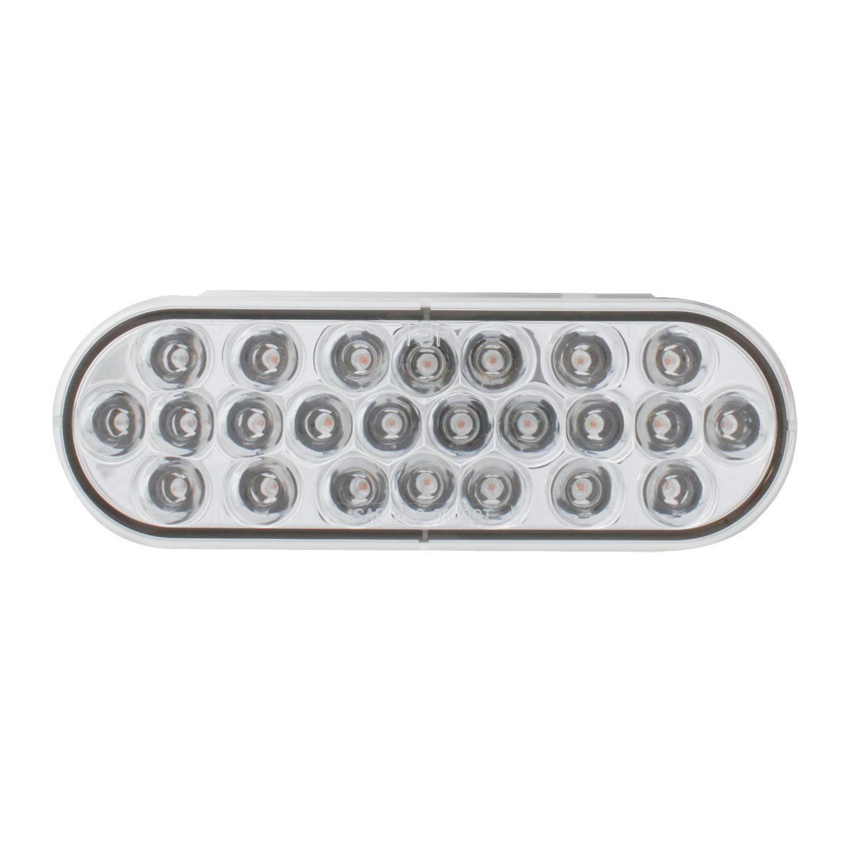 Oval Synchronous/Alternating Pearl LED Strobe Light in Clear Lens