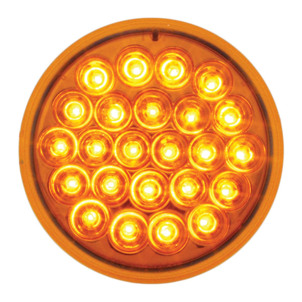 "#78270 4"" Round Pearl LED Amber/Amber Light"