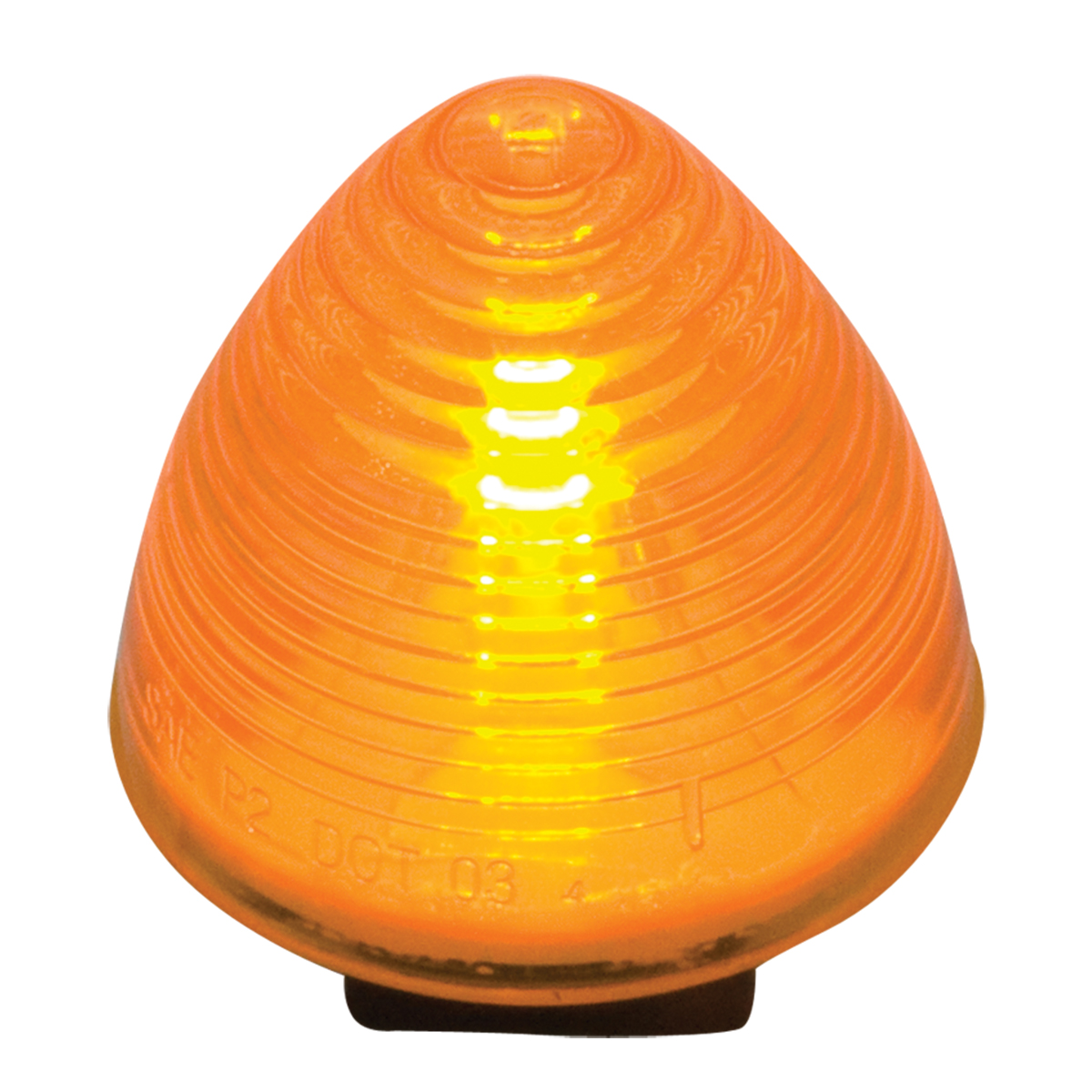 "#80942 2"" Incandescent Beehive Amber/Amber Light"