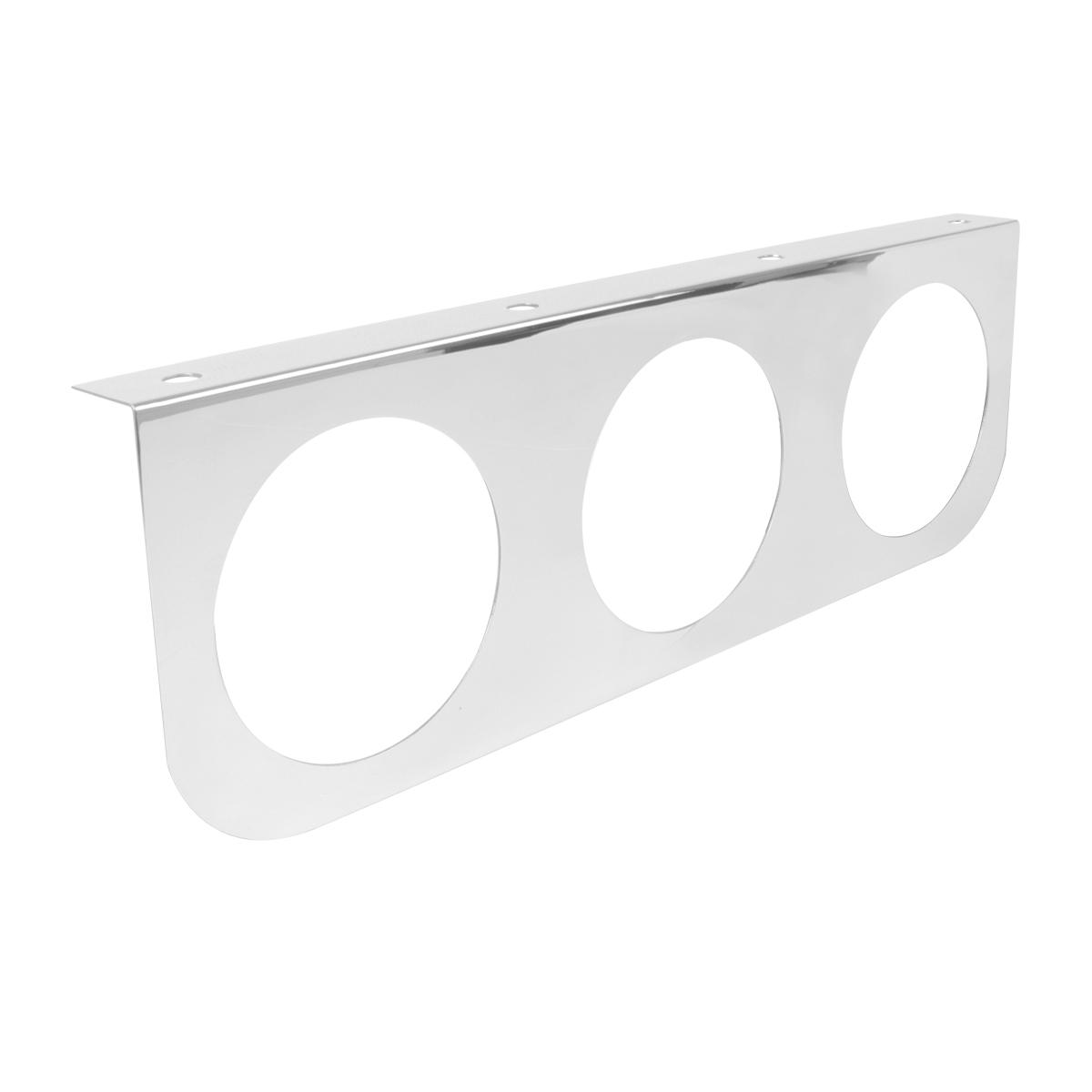 "#81500 Chrome Plated Steel Triple Light ""L"" Shape Mounting Bracket"
