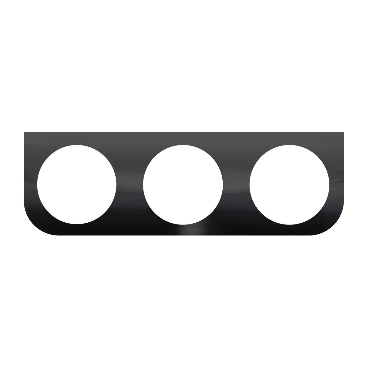 """#89229 Black Steel Triple Light """"L"""" Shape Mounting Bracket"""