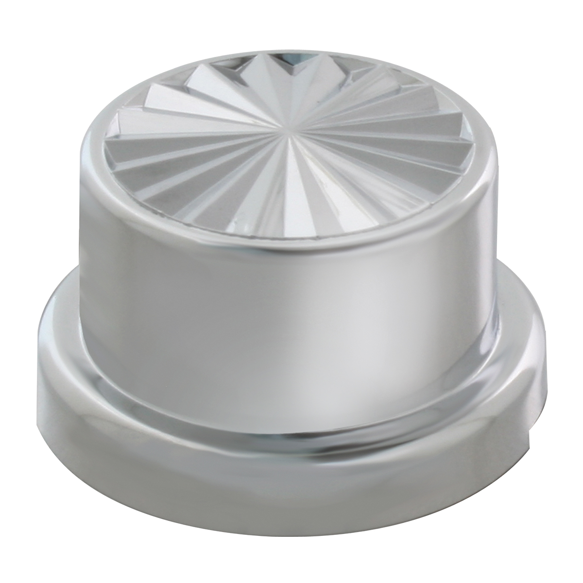 10065 Chrome Plastic Push-On Pinwheel Style Round Lug Nut Cover