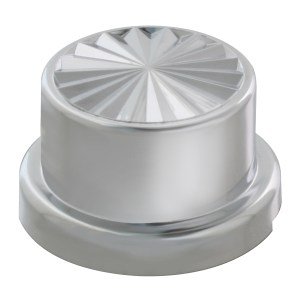 Pinwheel Chrome Plastic Push-On Adjustable Lug Nut Cover