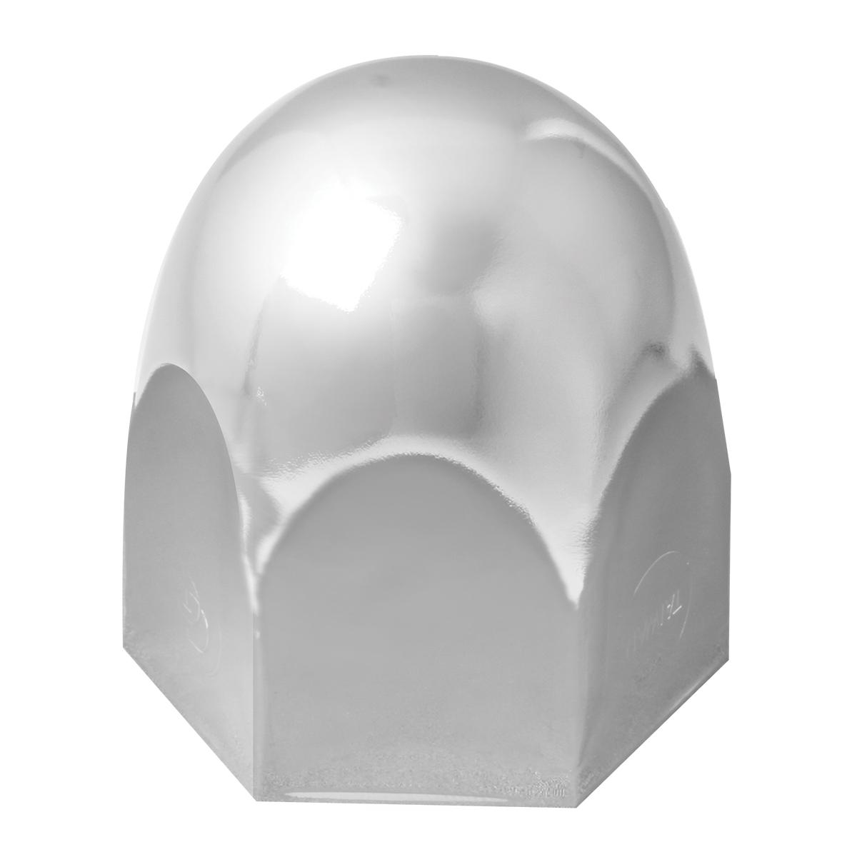 10220 Chrome Push-On Standard Lug Nut Cover w/o Flange for Hino Trucks