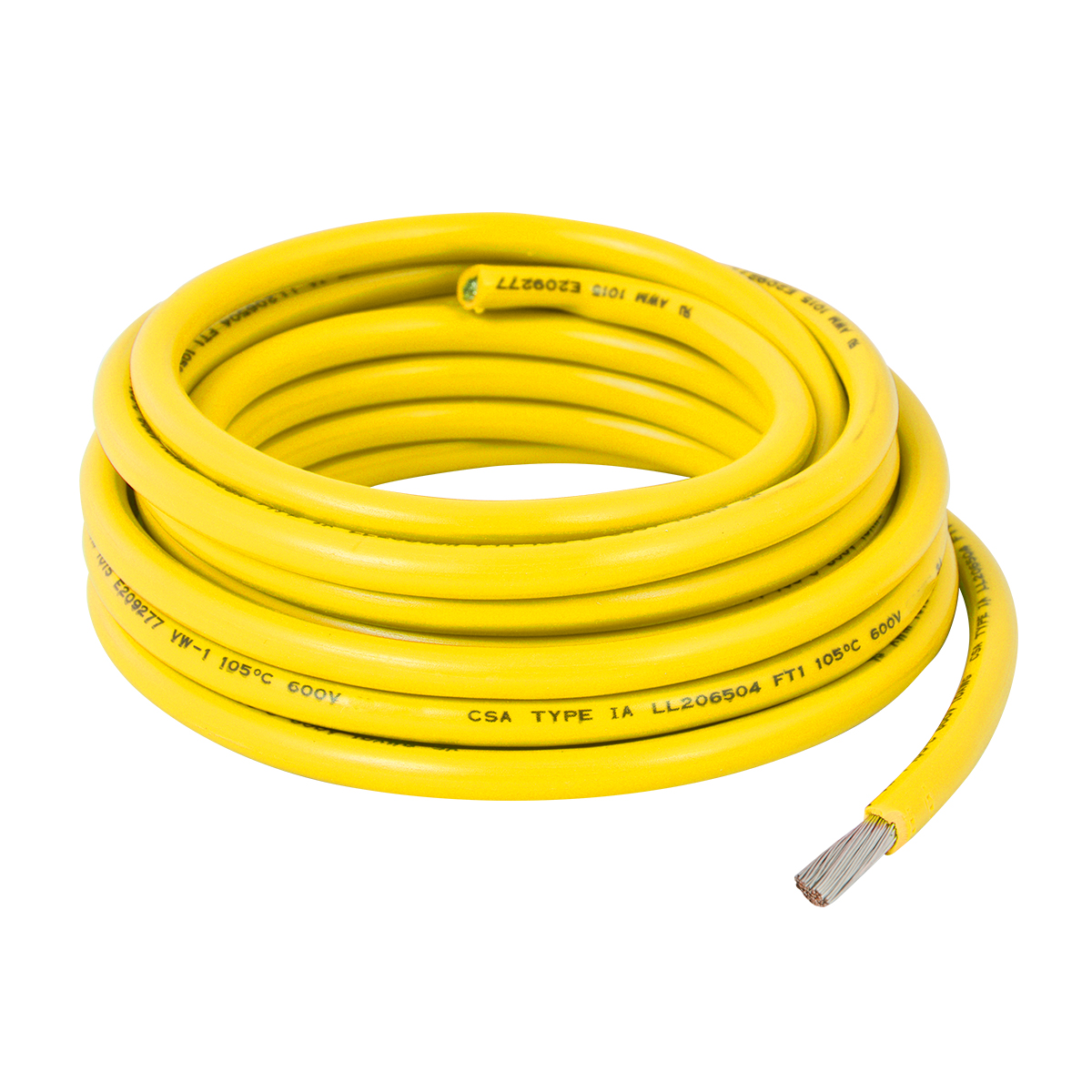 55004 Yellow UL Listed Primary Wires in 14 Gauge