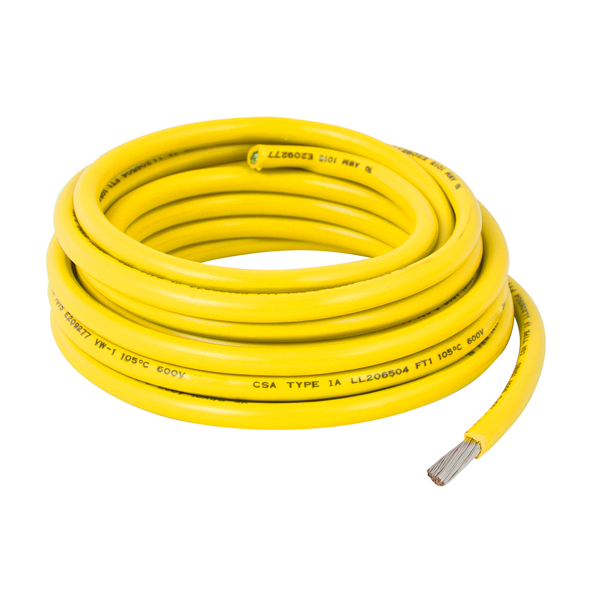 55044 Yellow UL Listed Primary Wires in 12 Gauge