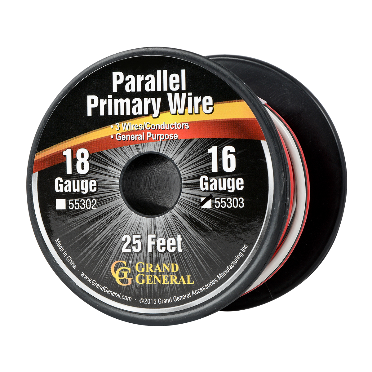 55303 Parallel Primary 3 Wire Roll in 16 GA