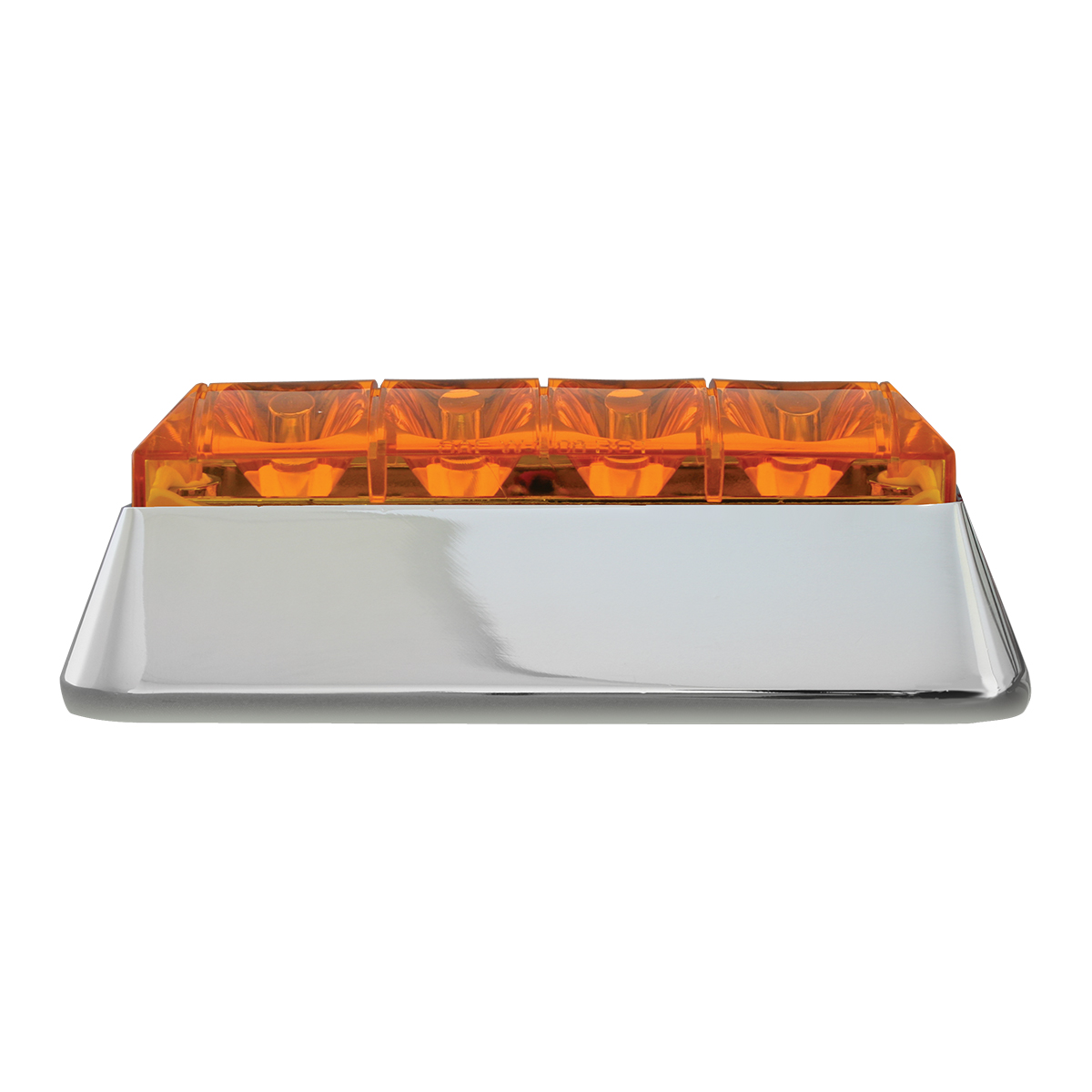 76530 Amber/Amber Medium Rectangular 4 LED Strobe Light