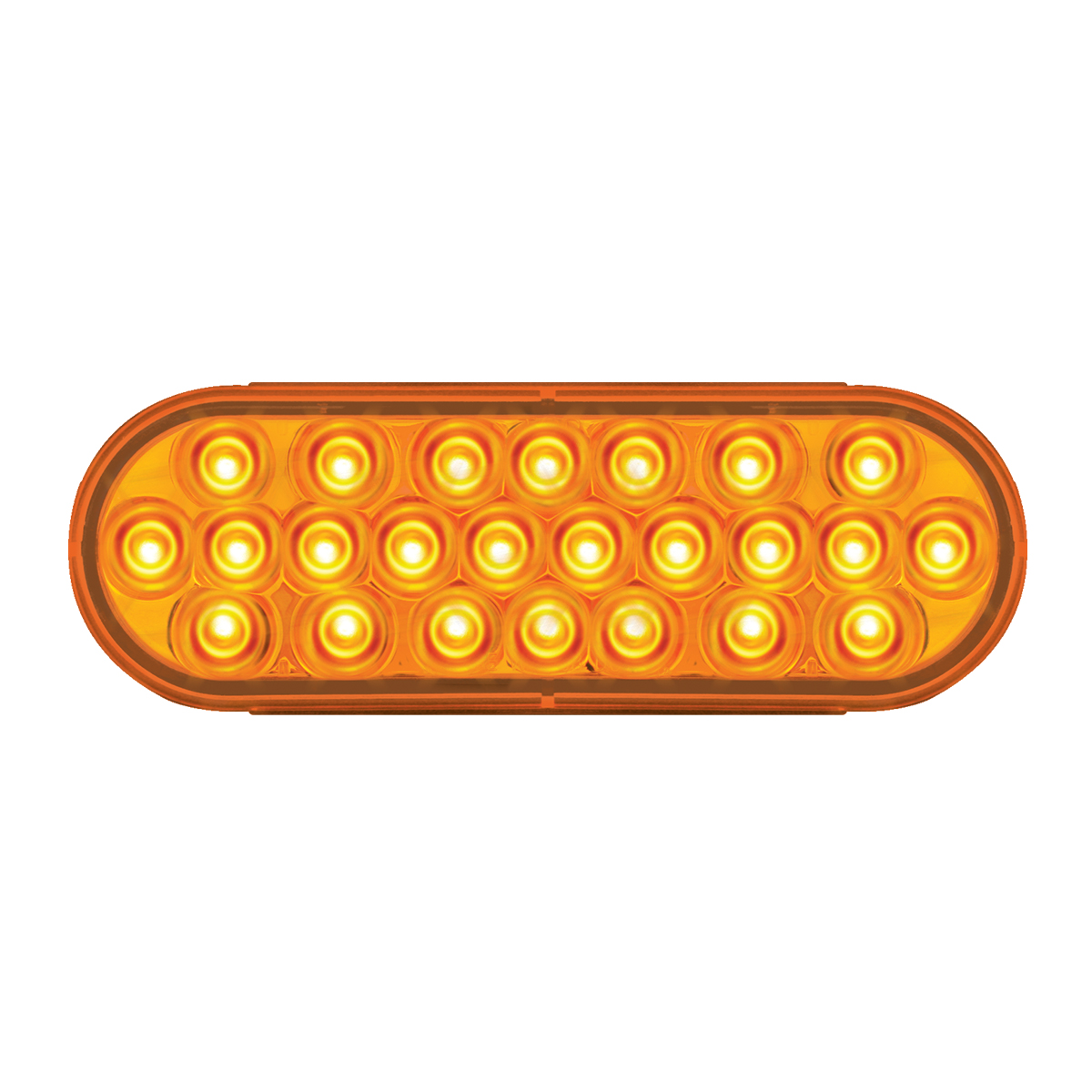 #78230 Pearl LED Flat Oval Sealed Light - Amber/Amber