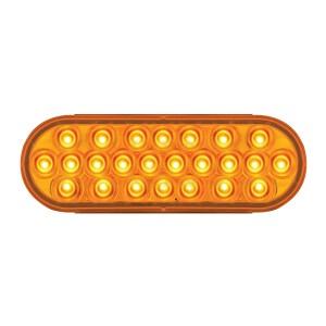 #78230 Pearl LED Flat Oval Sealed Light - Amber/Amber