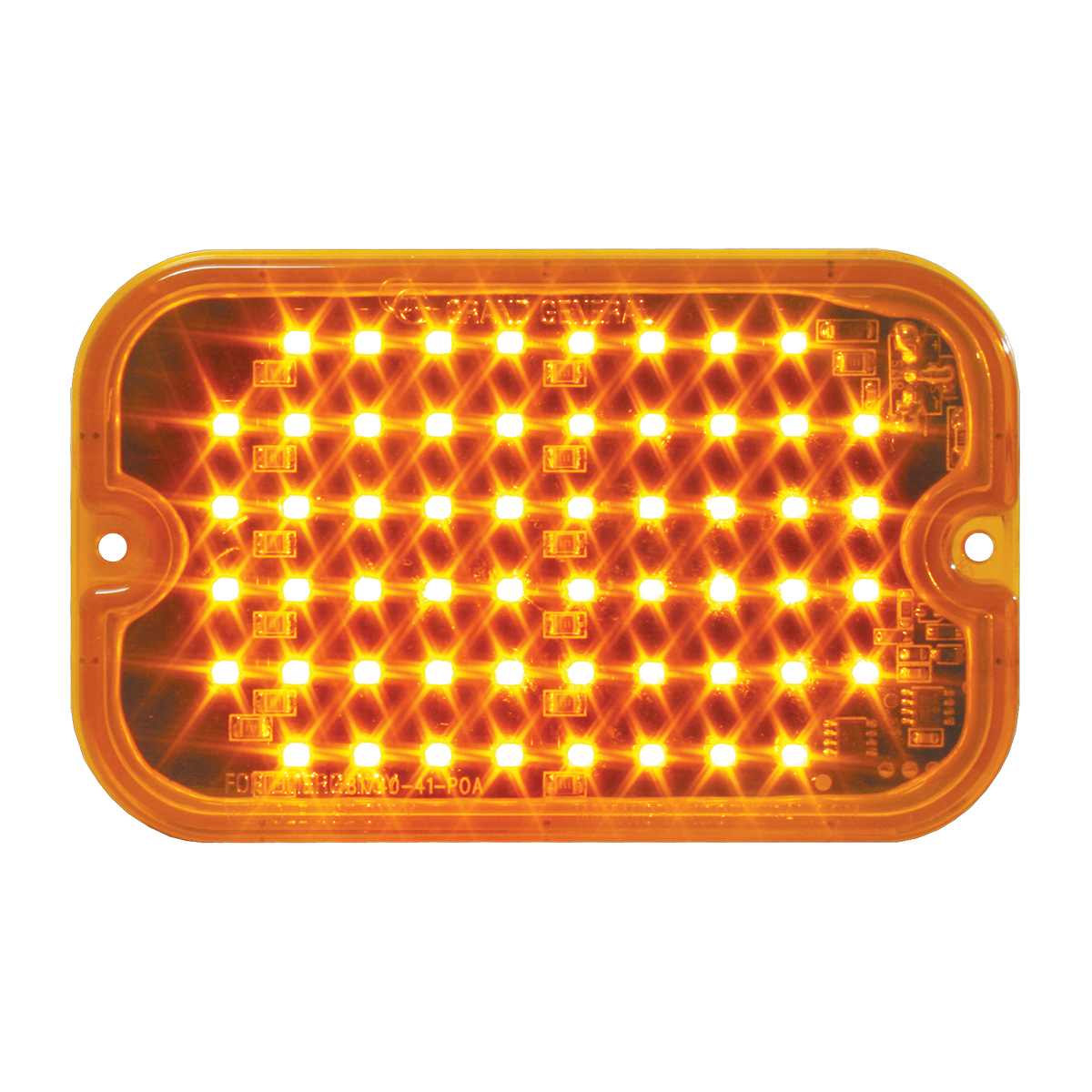 81744 Amber/Amber Ultra Thin Large Rectangular Strobe LED Light