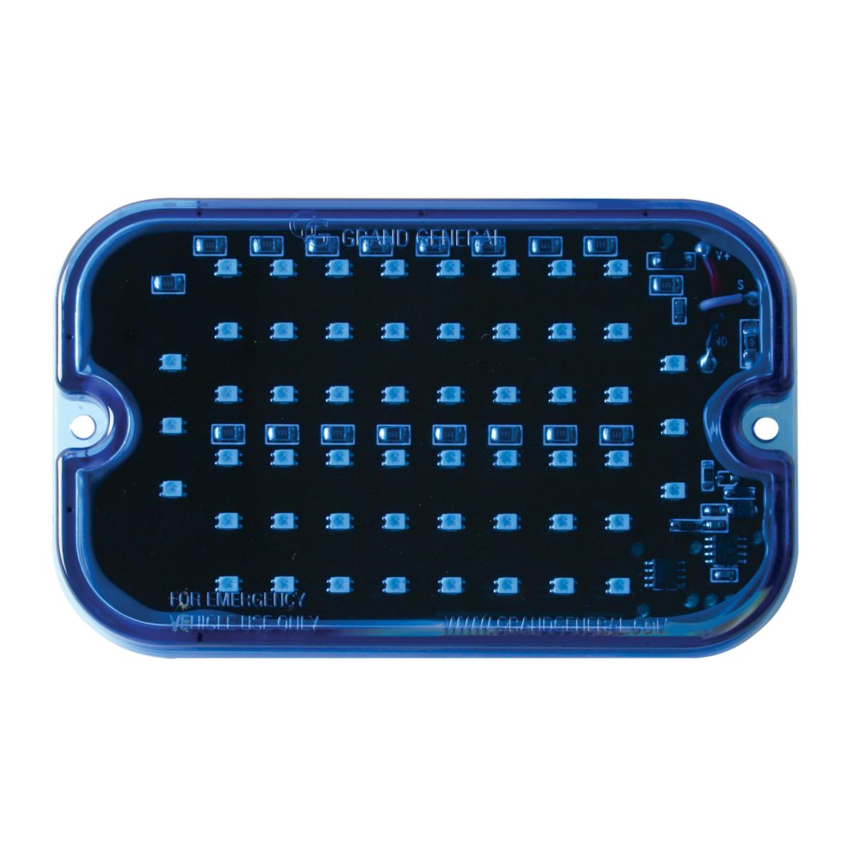 81760 Blue/Blue Ultra Thin Large Rectangular Strobe LED Light